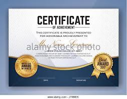 elegant appreciation certificate template design stock photos