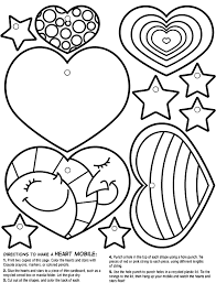 heart mobile coloring crayola