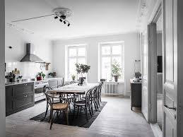 grey kitchen with large dining area coco lapine designcoco