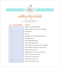wedding agenda templates wedding agenda template 8 free word excel pdf format