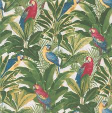 green wallpaper home decor parrots palms red yellow green wallpaper by albany wall ideas