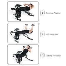adjustable bench press machine strength training home gym weight