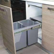 poubelle de cuisine cuisine poubelle de cuisine encastrable ryven gris clair x litres