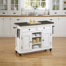remarkable square creamy oak wood kitchen island cart nickel pull