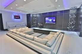 Home Theater Design Lighting Modern Home Theater With Surround Sound U0026 Cove Lighting In Hialeah