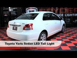 spyder auto installation 2007 09 toyota yaris 4 door sedan led