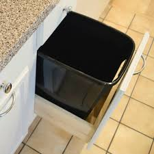 Kitchen Cabinet Trash Diy Pull Out Trash Cabinet Tutorial Hometalk