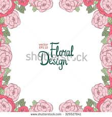 vector floral frame hand drawn pink stock vector 329527841
