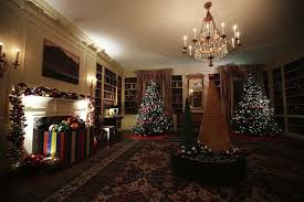 pictures of christmas decorations in homes check out the obamas last white house holiday decorations