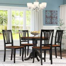 black dining room table with leaf round kitchen dining room sets you ll love wayfair