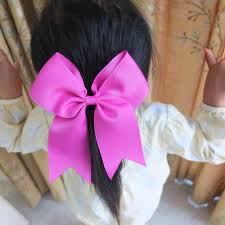 large hair bows 6 inch cheer bow with elalstic loop large hair bow ponytail cheer