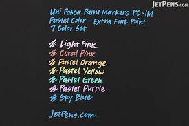 uni posca paint marker pc 1m pastel color extra fine point 7
