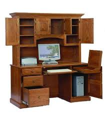 Computer Desk Wood Amish Computer Desk With Hutch