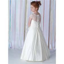 vintage communion dresses aliexpress buy 2016 white satin neckline a line