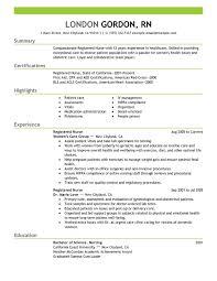 Example Summary Resume by Registered Nurse Resume Sample Summary Highlights Experience