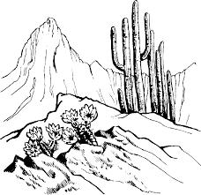 drawn desert desert scenery pencil and in color drawn desert