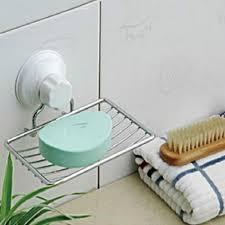 kitchen bathroom accessories suction cup sink shelf soap holder