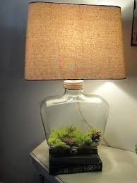 Square Table Lamp Table Lamp Fillable Table Lamp Fillable Clear Glass Table Lamp