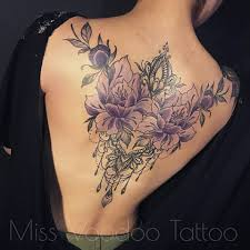 stunning floral back tattoos for tattoos