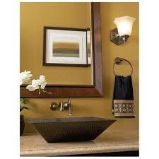 bathroom vessel sinks vessel sink vanities bathroom vanities and rustic accent idea rectangle hammered copper vessel sink