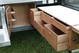 quality camper trailer kitchens and storage solutions outback