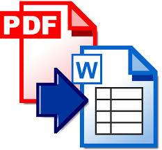 Convert Pdf To Word Extract Tables From Pdf To Word Pdf Documents To Word Pdf Converter