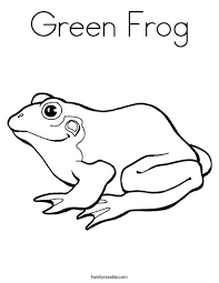 Green Frog Coloring Page Twisty Noodle Green Coloring Page
