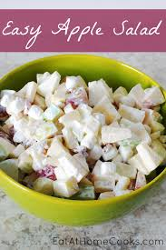 easy salad recipe easy apple salad eat at home