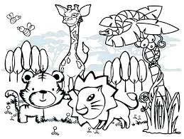 preschool jungle coloring pages coloring pages jungle animals yuga me