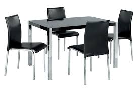 Furniture  Impressive Wood And Black Dining Table Black Wooden - Black kitchen table and chairs