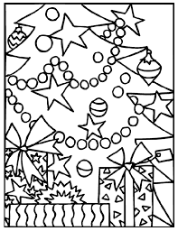 coloring book pictures of christmas trees home design ideas