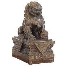 foo dog bookends design toscano foo dog guardian lion figurine