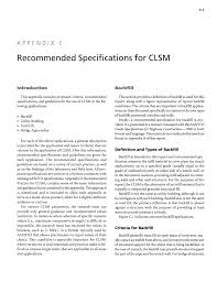 appendix c recommended specifications for clsm development of