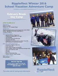rippleffect winter 2016 school vacation adventure c
