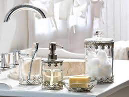 best shabby chic bathroom ideas and designs for vintage inspired metal and glass bathroom accessories