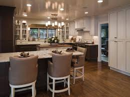 White Glass Kitchen Cabinets by Comely U Shape Kitchen Decoration Using Rustic Solid Hardwood