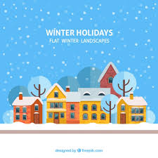 winter holidays vector free