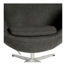 egg chair replica charcoal u2013 the design edit