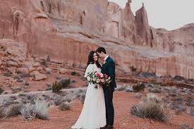 wedding arches national park edge of utah valley