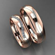 ring models for wedding new classic duo tone wedding band 3d printable model