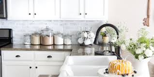 faux brick backsplash in kitchen 7 diy kitchen backsplash ideas that are easy and inexpensive
