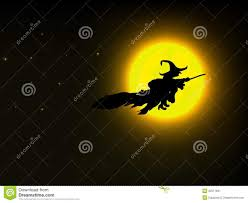 halloween stars background flying witch background moon and stars stock vector image 69298076