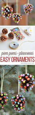 pom poms and pinecones ornaments pinecone