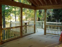 Porch Ceiling Material Options by Screened Porch Deck Floor Making Screened In Deck From Your