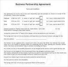 business agreement template business partnership agreement 6