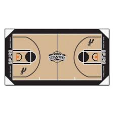 fanmats nba san antonio spurs 2 ft 6 in x 4 ft 6 in large