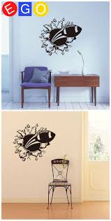 21 best 3d home decoration wall stickers bedroom living room study 3d through the wall rugby cartoon broken wall decorative wall sticker for kids room living room