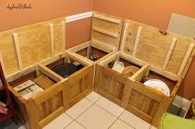 Kitchen Bench With Storage Kitchen Beautiful Storage Bench Withcorner Breakfast Nook Plans