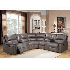 Sectional Gray Sofa Cortez Premium Top Grain Gray Leather Reclining Sectional Sofa