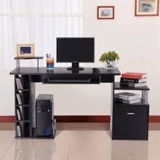 bureau pour ordi pour ordinateur table meuble pc informatique en mdf noir 13